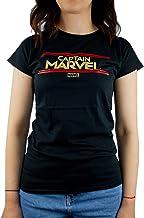 Marvel Captain Marvel Letters Womens Black T-Shirt