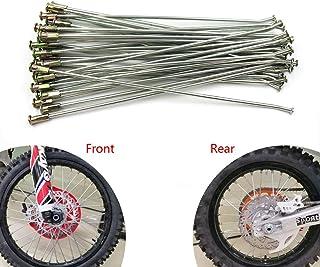 """OTOM Motorcycle 36 Pcs 21"""" Front 18"""" 19"""" Rear Wheel Steel Spokes Nipples Pit Bike Enduro Spokes Steel Wire Cap Hat For HON..."""