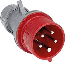 as - Schwabe CEE-stekker met fasedraaier 400 V / 16 A – robuuste krachtstekker met schroefaansluitingen – slagvaste stroom...