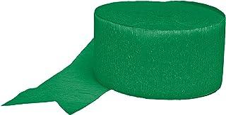 amscan 18202.03 Crepe Streamers Crepe Streamers, Festive green, 81'