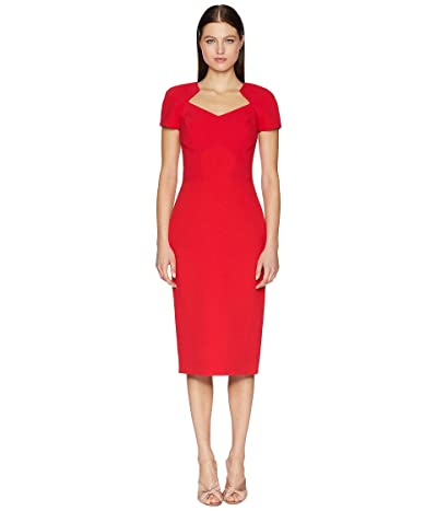 Zac Posen Bonded Crepe Dress (Cranberry) Women