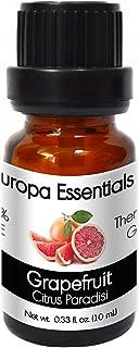 Europa Essentials 100% Pure Therapeutic Grade Essential Oils, 31 Aromatherapy Scents Collection - Grapefruit, 10ml