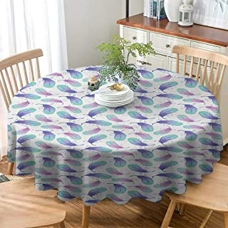 Jktown Christmas Tablecloth Feather Fashions Table Cloth Pastel Watercolor Plumage Angel Love Wings Positive Vibes Boho Dining Table Cover Turquoise Violet Dried Rose