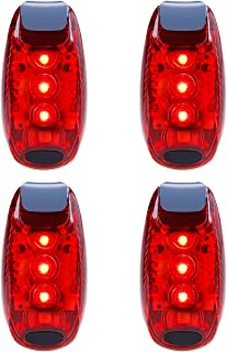 OCEDECOR LED Safety Light 4 Pack Waterproof Red Flashing Bike Rear Tail Light with Free Clip on Velcro Straps for Running, Walking, Cycling, Helmet