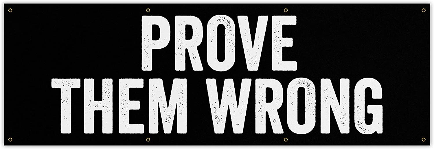 Prove Them favorite Wrong Ranking TOP5 Banner - Motivational Qu Home Gym Decor Large