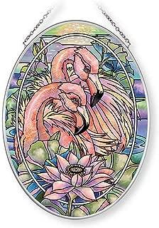 Amia Think Pink, Flamingo Glass Suncatcher, 7 Inches High, 7