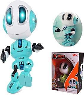 Rechargeable Talking Robots Toys for Kids, Mini Robot Talking Toys, Metal Robot Kit with Sound & Touch Sensitive Led Eyes ...
