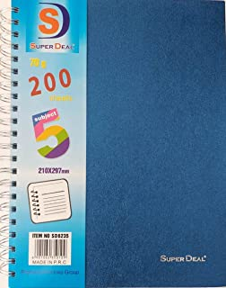 5 Subject Notebook 200 Sheets A4 Sd6235