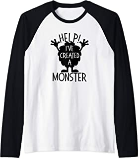 Monster Shirts For Parents Help I've Created A Monster Raglan Baseball Tee
