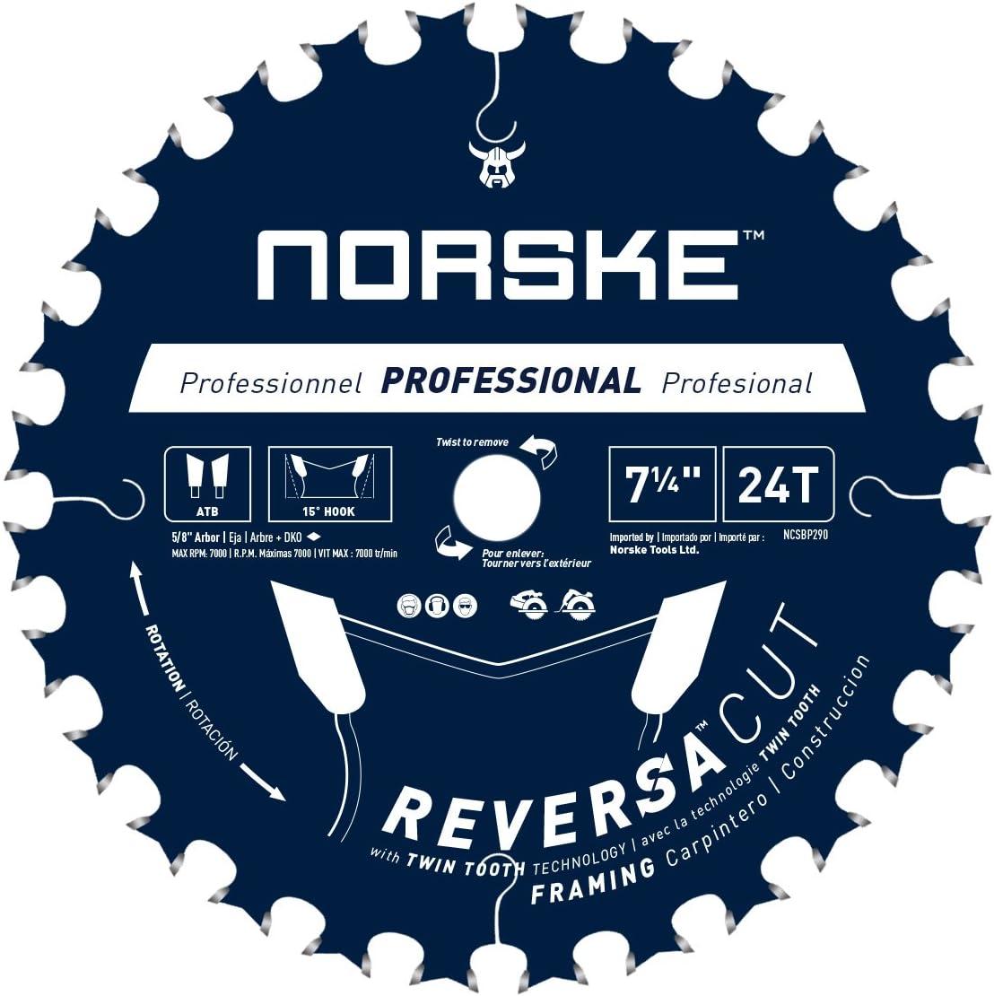 overseas Norske Tools NCSBP290 7-1 4 inch x Classic Cut 24 Thin Reversa Teeth Ker