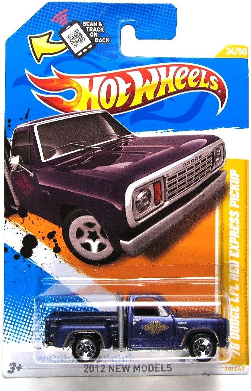 2012 Hot Wheels New Models '78 Dodge Li'L rot Express Pickup 34 50 (lila) by Hot Wheels B008AJL5Q6 Genial  | Überlegene Qualität