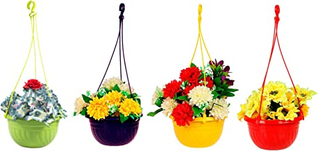 Klassic Hanging Planter Set (Set of 4, Plastic, Assorted)