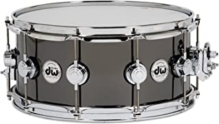 "DW Collector`s Series Metal Snare - 8"" x 14"" Black Nickel over Brass"