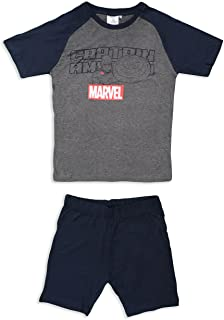 Marvel Avengers Men's Short Pyjama Set ET3559 Cotton