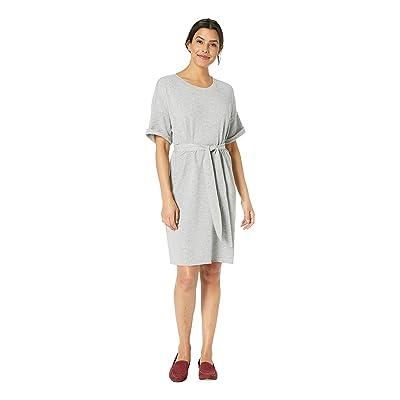 Lilla P Short Sleeve French Terry Dress (Heather Grey) Women
