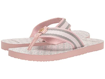 Tory Burch Gemini Link Thin Flip-Flop (Coastal Pink/Coastal Pink) Women