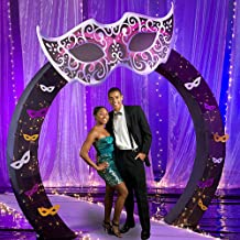 Masquerade Ball Mardi Gras Arch Decorations Standup Photo Booth Prop Background Backdrop Party Decoration Decor Scene Setter Cardboard Cutout