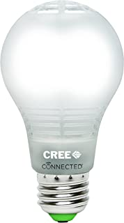 Cree BA19-08050OMF-12CE26-1C110 Connected 60W Equivalent Daylight (5000K) A19 Dimmable LED Light Bulb (6 Pack), Works with Alexa