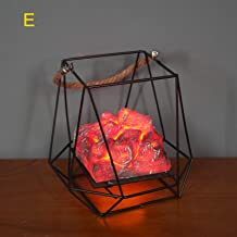 YTXTT Luz de LED com efeito de chama, luz de luz de carvão simulada operada por bateria, lanterna suspensa para o Natal, D...