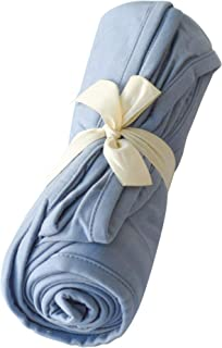 Kyte BABY Organic Bamboo Rayon Swaddling Blankets - Buttery Soft Stretchy Breathable Swaddles for Baby (Slate)
