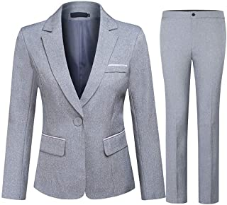 Women's 2 Piece Office Lady Business Suit Set Slim Fit...
