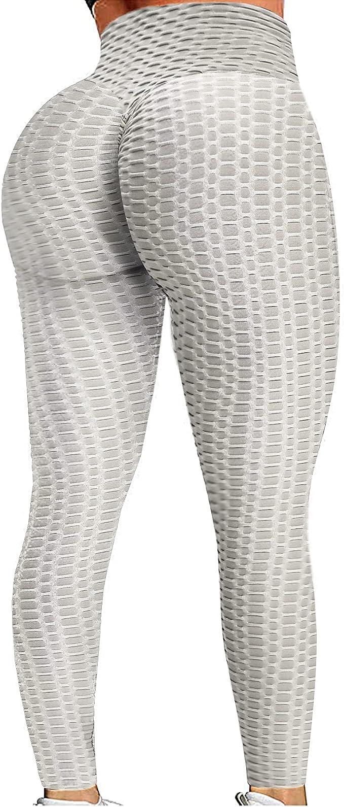 KTGIREM Leggings for Women High Waist TIK tok Leggings Tummy Control Butt Lift Workout Sport Tights Yoga Pants