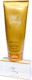 Oriflame Milk & Honey Gold Smoothing Suger Scrub(200G) With Creamy Soap Bar(100G)- Combo Set Of 2
