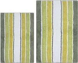 Clairvoyance Stripes Bath Rug Set 2 Pieces, Bath Mats Set for Bathroom, Soft Cotton- Water Absorbent Bath Rug Set with Lat...