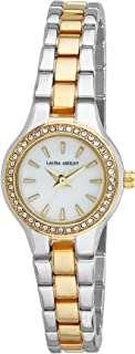 Laura Ashley LA31035TT Ladies Mini Link Crystal Bezel Bracelet Watch
