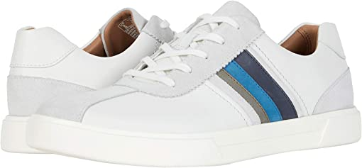 White/Blue Leather/Suede Combi