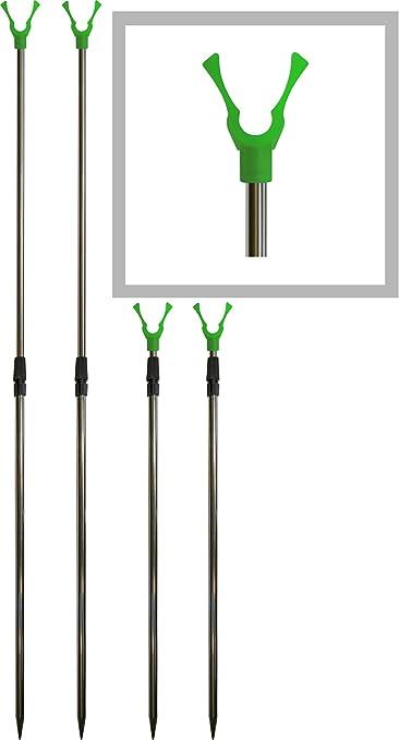 Storfisk fishing /& more Support en Acier Inoxydable Ultra Solide en kit Canne /à p/êche t/élescopique env 70//à 114/cm