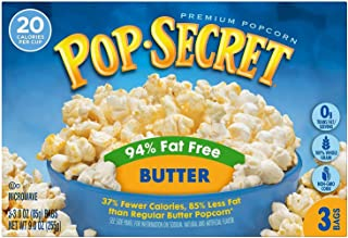 Pop Secret Microwave Popcorn, 94% Fat Free Butter, 3 Count Box (Pack of 6)