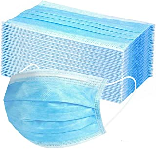 50PC Kids Face Mask Disposable Face Cover 3-Ply Non-Woven Fibers Dustproof Breathable Sunscreen Haze Mouth Muffle Balaclav...