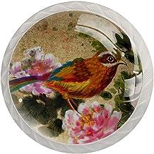 Lade handgrepen trekken ronde kristallen glazen kast knoppen keuken kast handvat,vogel