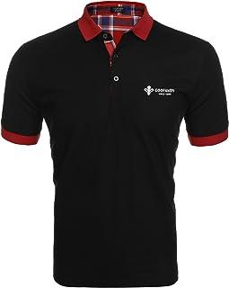 Coofandy Herren Poloshirt Kurzarm Einfarbig Sommer T-Shirt Mens Polo Shirt