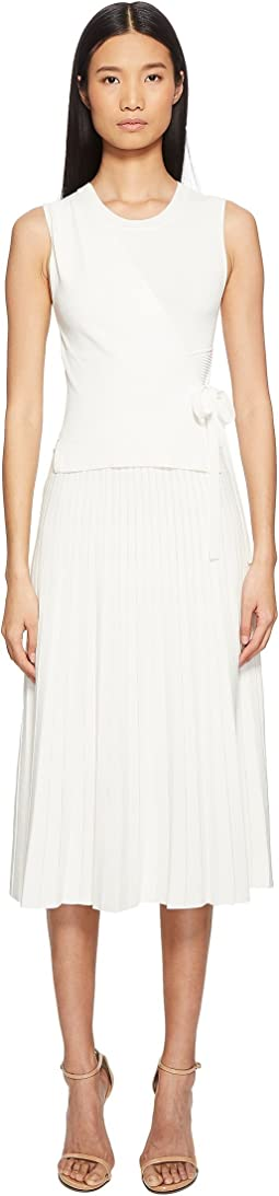 YIGAL AZROUËL - Wrap Front Pleated Skirt Dress
