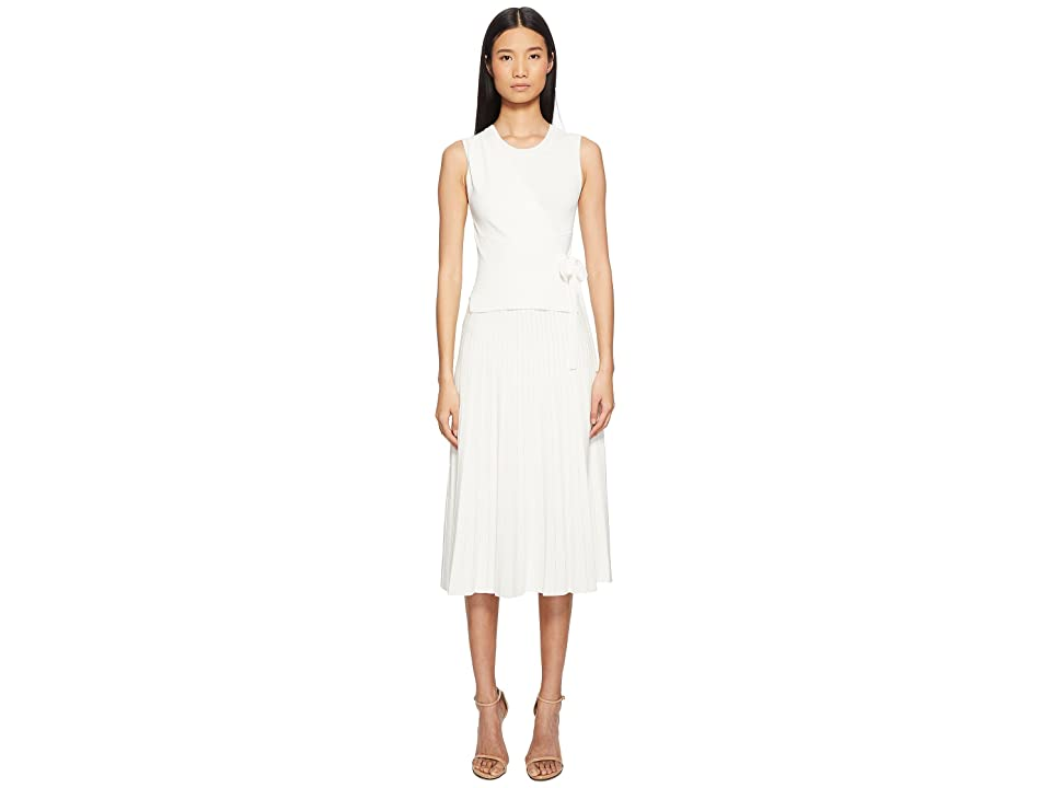 YIGAL AZROUEL Wrap Front Pleated Skirt Dress (Optic) Women