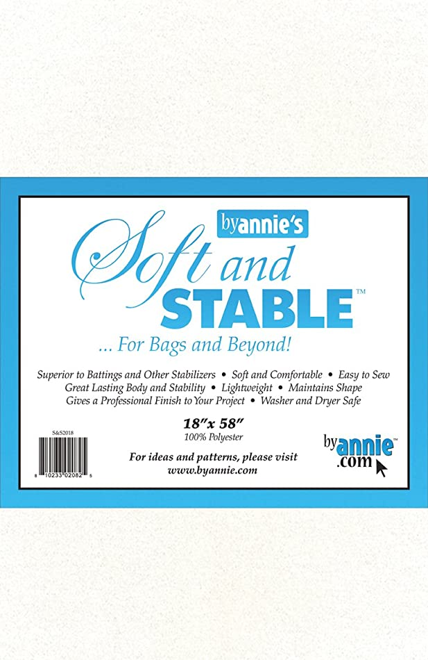ByAnnie's Soft and Stable Fabric, 18 by 58-Inch, White u3714159344