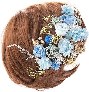 (Smileまーけっと) &Preser ヘッドドレス プリザーブドフラワー 髪飾り ウェディング ブライダル 結婚式 成人式 卒業式 パーティ 日本製