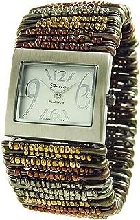 Geneva Platinum Women's Safety Pin Watch 7483