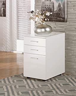 Signature Design by Ashley Baraga White File Cabinet