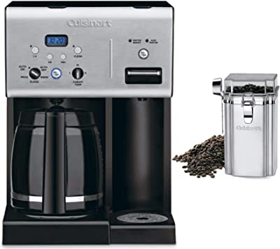 Cuisinart CHW-12 Programmable 12-Cup Coffee Maker with Hot Water System Includes Coffee Bean Canister Bundle (2 Items)