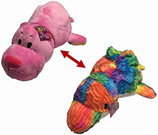 """Best FlipaZoo 16"""" Stuffed Animal Rainbow Dolphin to Seal Flip A Zoo Pillow - Each Huggable Flip a Zoo character is Two Wonderful Collectibles in One (Blushes Seal/Tessa Dolphin) Review"""