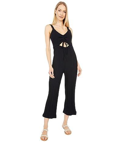 Hurley Day Tripper Crop Jumpsuit (Black) Women