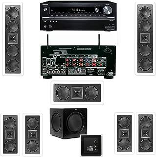 Klipsch KL-6504-THX(2 Speaker) In-Wall 7.1-SW-310 Onkyo TX-NR838 7.2 Channel Network- White