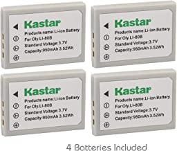 Kastar Battery (4-Pack) for Olympus Li-80B and Konica Minolta NP-900 Work with Olympus T-100,t-110,x-36 and Konica Minolta DiMAGE E40, E50, KYOCERA EZ4033 etc. Cameras