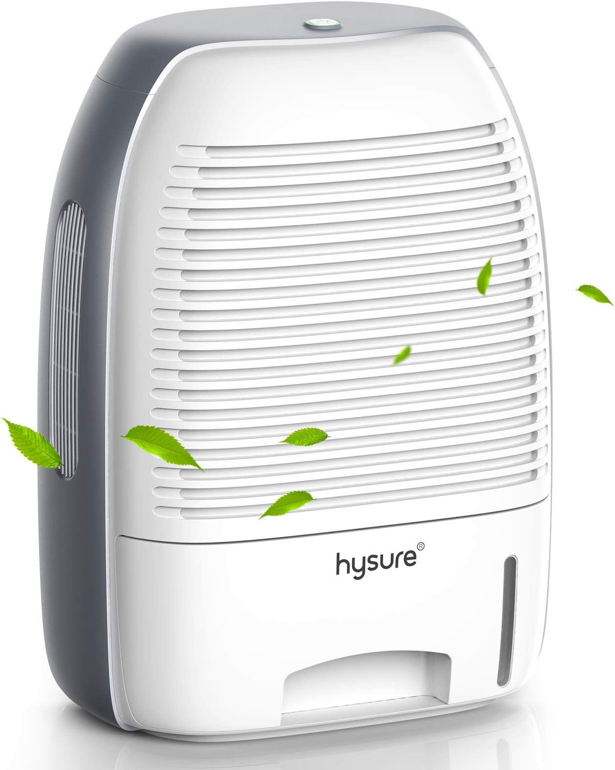 Hysure Dehumidifier for Home 250 sq ft with 52oz(1500ml) Capacity Dehumidifier for Bedroom, Bathroom, RV, Baby Room