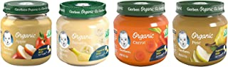 Sponsored Ad - Gerber 1st Foods Organic Baby Food Jars Variety Pack, 3 Apple, 3 Banana, 3 Carrot, 3 Pear, 4 OZ Each, 12 CT