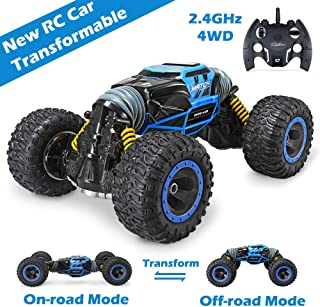 Jasonwell RC Car Remote Control Cars for Kids 4WD Off Road Vehicle Rock Crawler 2.4Ghz 1:16 Rechargable Monster Truck Dual Motors Buggy Hobby Racing Car Toys Gifts Boys Girls 6 7 8 9 10 12 Year Old