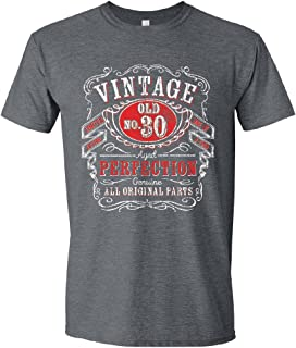 Birthday Gifts for Men, 30th, 40th, 50th, 60th, 70th, 80th, 90th T-Shirts, Tee